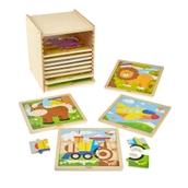 Jigsaw Set with Storage - 9 Piece