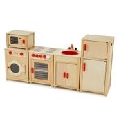 Natural Wood Kitchen - 5 Piece Set