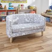 Woodland Print Tub Sofa