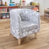 Woodland Print Tub Chair