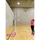 Harrod Sport Telescopic Netball Post - Pink/White