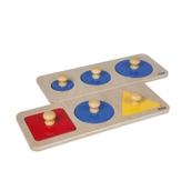 Nienhuis Montessori Multiple Shape Puzzles - Set of 2