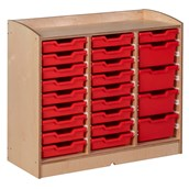 Nienhuis Montessori Cabinet with space for 27 trays