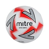 Mitre Super Dimple Football - White/Red - Size 4