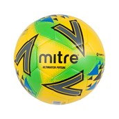 Mitre Ultimatch Futsal Football - Yellow/Green/Blue - Size 4