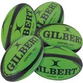 Gilbert Control-a-Ball Rugby Ball Set - Green/Black - Size 4