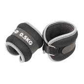 Fitness Mad Ankl/Wrist Weight - Grey/Black - 0.5kg - Pair
