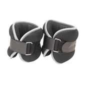 Fitness Mad Ankle/Wrist Weight - Grey/Black - 2kg - Pair