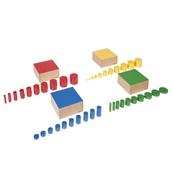Nienhuis Montessori Set Of Knobless Cylinders