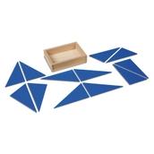 Nienhuis Montessori 12 Identical Blue Triangles