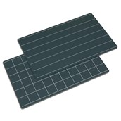 Nienhuis Montessori Greenboards With Lines And Squares: Set Of 2