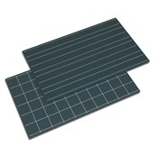Nienhuis Montessori Greenboards With Double Lines And Squares: Set Of 2