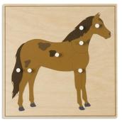 Nienhuis Montessori Animal Puzzle: Horse