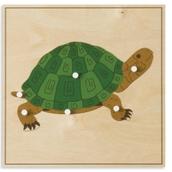 Nienhuis Montessori Animal Puzzle: Turtle