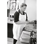 White Disposable Apron No Pocket - Large - pack of 200