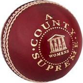 Readers County Women's Cricket Ball - Red - 5oz