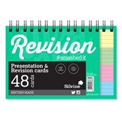 Silvine Luxpad Twinwire Presentation & Revision Cards - 152 x 102mm (48 cards per pack) - Pack of 10