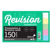 Silvine Luxpad Presentation & Revision Cards - 152 x 102mm (150 cards per pack) - Pack of 8