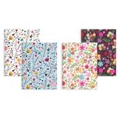 Silvine Marlene West Floral Notebooks - A4 - Pack of 4