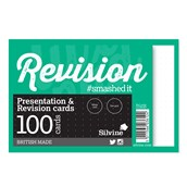 Silvine Luxpad Presentation & Revision Cards - 152 x 102mm (100 cards per pack) - Pack of 10