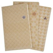 Collins Junya Notebooks (Lined, Grid & Plain) - Assorted - A5 - Pack of 3
