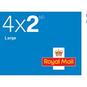 Royal Mail 2nd Class Large Stamps - Sheet of 4