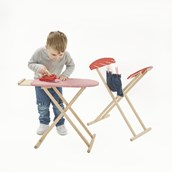 Wooden Ironing Board and Clothes Horse Set