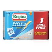 Regina Blitz 3-Ply Kitchen Roll - pack of 4