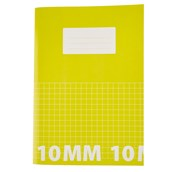 Classmates A4 Tough Cover Exercise Books 80 Page, Yellow, 10mm Squared - Pack of 50