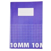 Classmates A4 Tough Cover Exercise Books 80 Page, Purple, 10mm Squared - Pack of 50