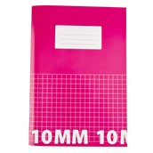 Classmates A4 Tough Cover Exercise Books 80 Page, Pink, 10mm Squared - Pack of 50