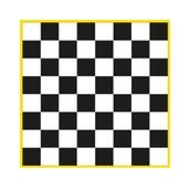 Chessboard Markings - Black/White - 3x3m