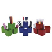Helix Primary Colour Storage Pots Pack of 12
