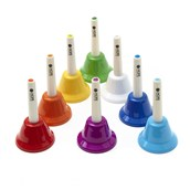 8 Note Diatonic Whacky Hand Bells by Hope Education