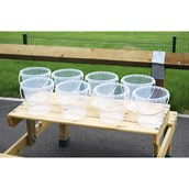 Clear Plastic Buckets Pack of 8