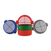 Plastic Sieves - Pack of 5 with Different Meshes