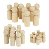 Wooden Peg People Collection - Small, Medium and Large