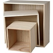 Square Storage Boxes - Pack of 3