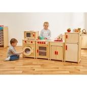 5 Piece Wooden Kitchen With Accessories