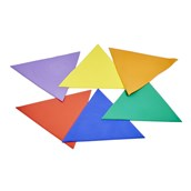 Throw Down Spots, Triangles and Squares - Assorted - Pack of 18