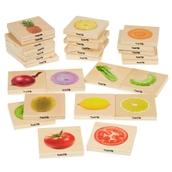 TickiT Wooden Fruit & Vegetable Match