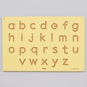 Wooden Formation Board- Lowercase Letters