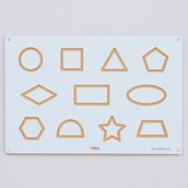 Writing Shapes Wooden Board
