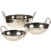 Metal Balti Dishes Assorted Sizes Pack of 3