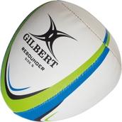 Gilbert Rebounder Rugby Ball - White/Green/Blue - Size 4