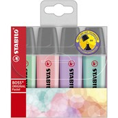 Stabilo BOSS® Pastel Highlighters Assorted - Pack of 4