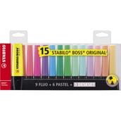 Stabilo BOSS® Original Deskset Assorted - Pack of 15