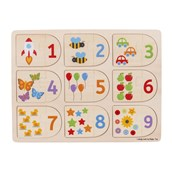 Picture and Number Match Puzzles