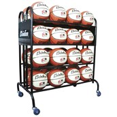 32 Ball Storage Trolley with Brakes - Black