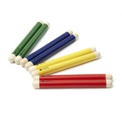 Mixed Colours Claves - 4 Pairs